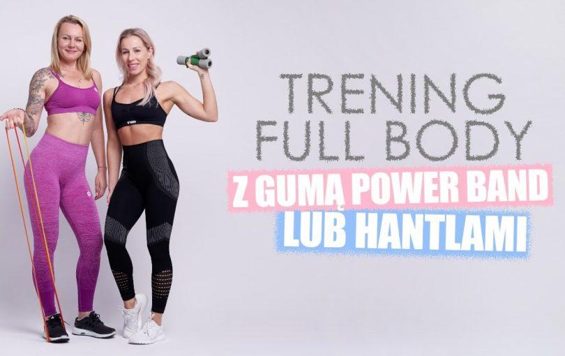 Trening całego ciała z gumą power band lub hantlami (Agata Zając i Anna Krzysztofik – Mama na siłowni)