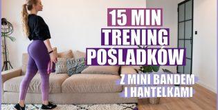 15-minutowy trening pośladków z mini bandem i hantelkami (FitDoncia)