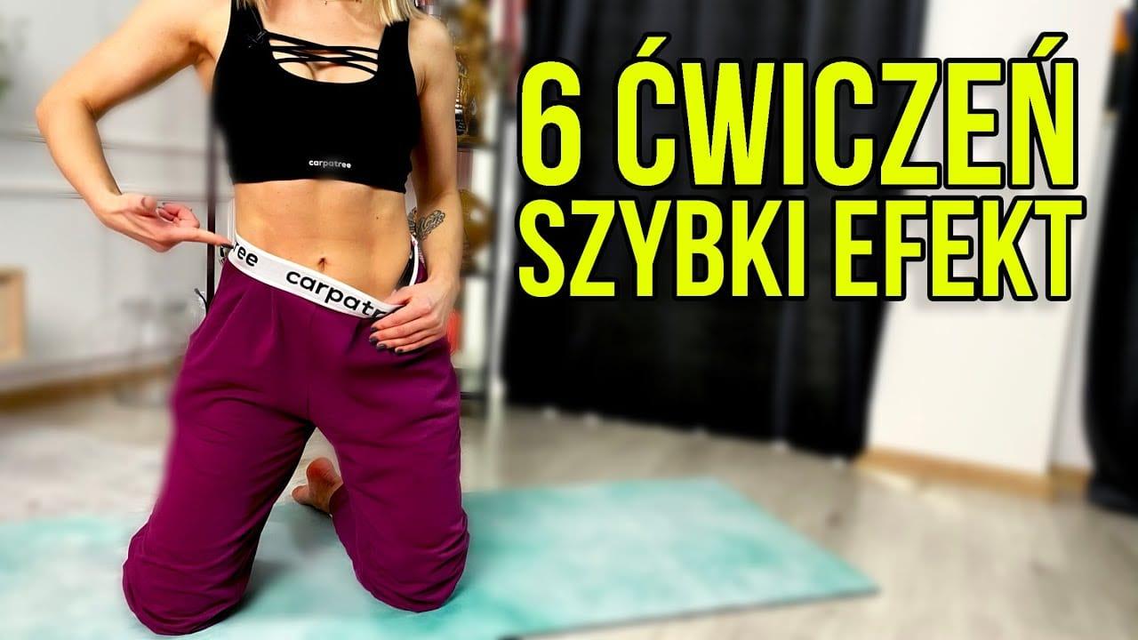 6 najskuteczniejszych ćwiczeń na brzuch bez sprzętu od Kasi Dziurskiej